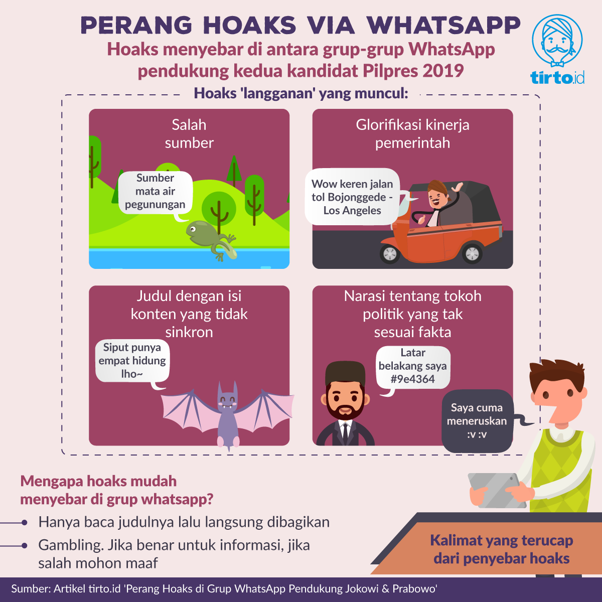 Ini informasi perang hoaks di grup Whatsapp dari tirto.id
