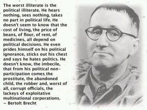 Buta terburuk adalah buta politik. Ketidakpedulian. Foto: Istimewa