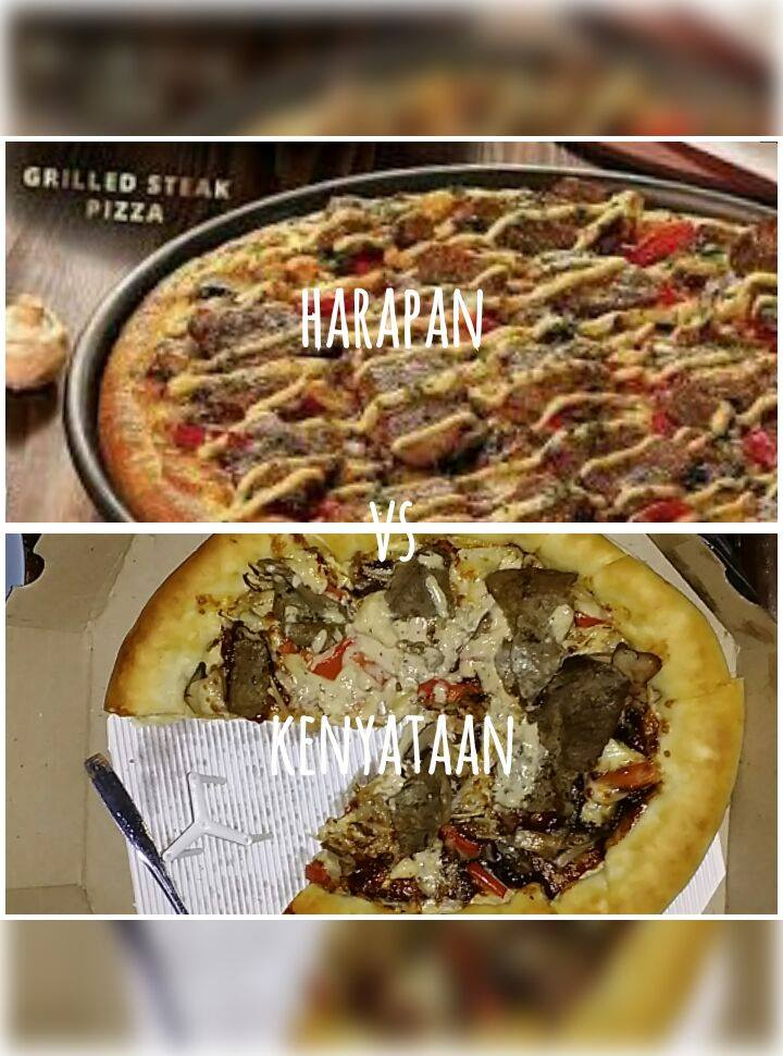 Dilema Pizza, Seperti Harapan vs Kenyataan