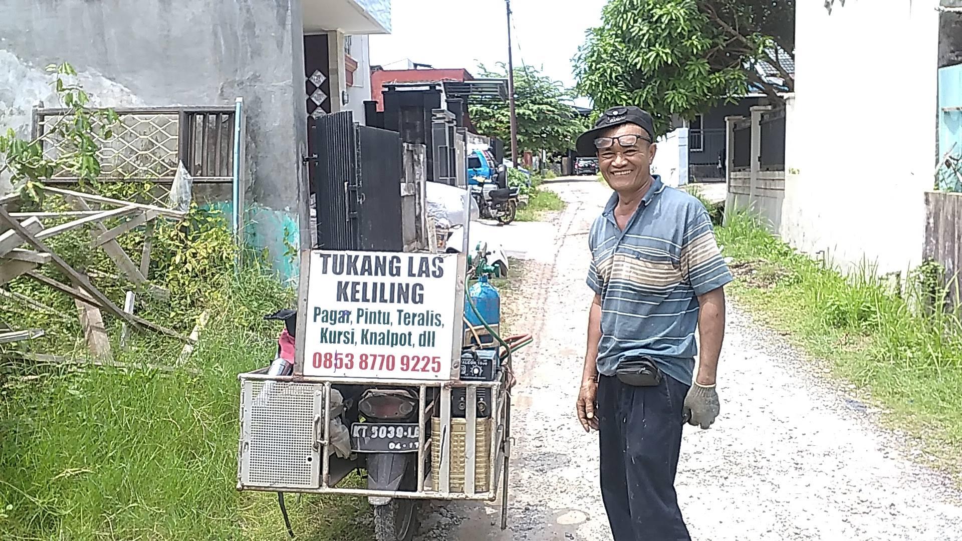 Membangun Rumah, Tukang Las Keliling Balikpapan