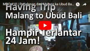 Salah satu video Backpacker ke Bali. Foto: Screenshot
