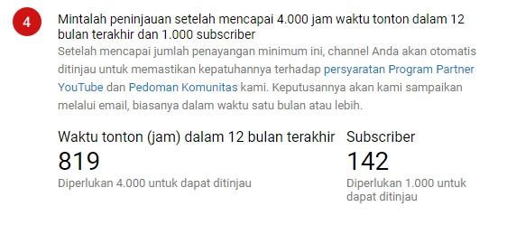 Catatan statistik Channel hari ini, 17 Januari 2019. Foto: Screenshot