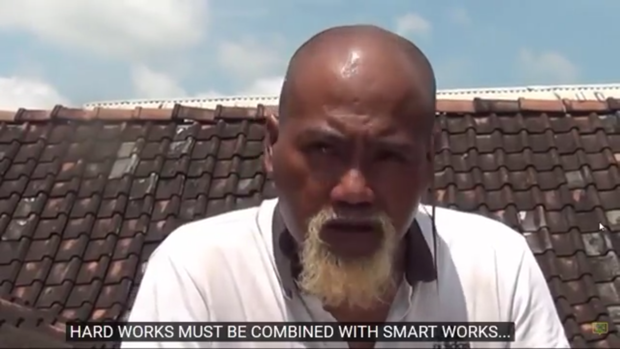 hard works must be combined smartwork. Pak Ndul. Foto: Screenshot