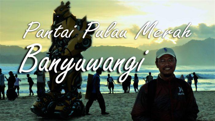 Cover Vlog Touring Boncengan menikmati eksotika Pantai Pulau Merah. Foto: dok. pribadi