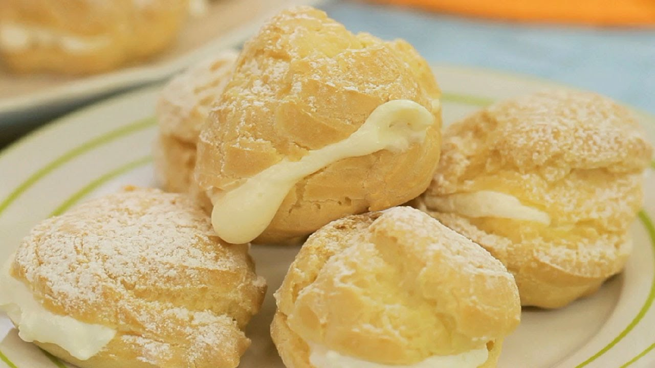 YouTube Cream Puffs With Custard Cream Filling. Source: Youtube.