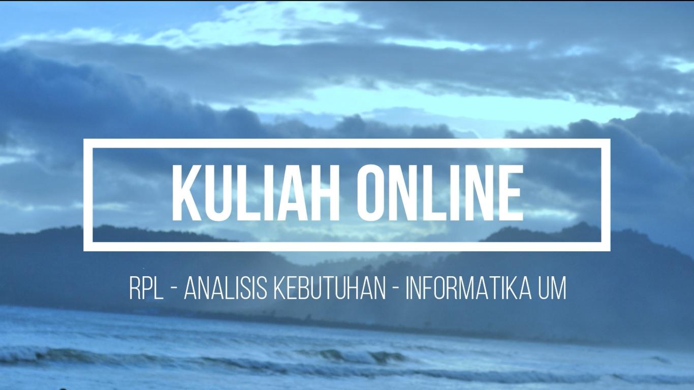 [Video] Dokumentasi Kuliah Online Rekayasa Perangkat Lunak Selama Wabah Covid-19