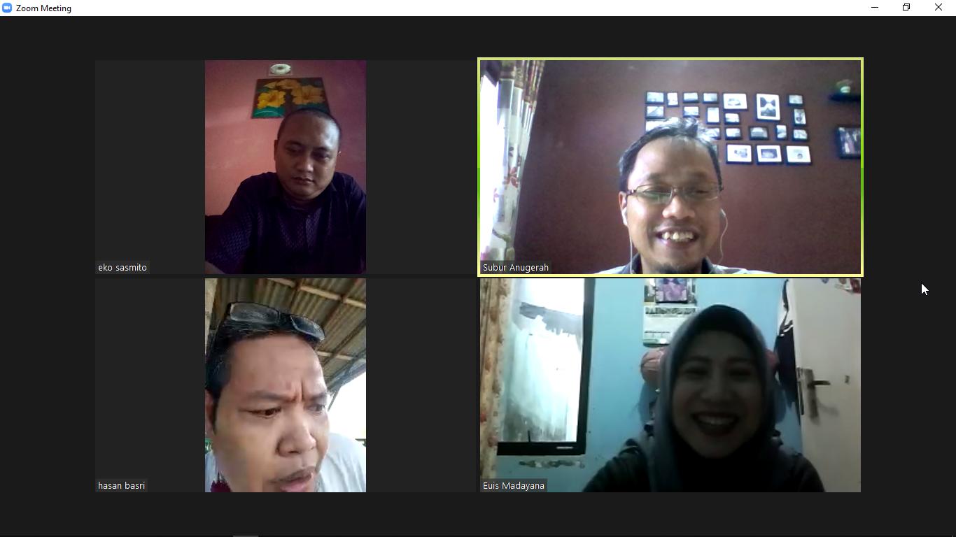 Reuni Virtual bareng teman SMA 7 Surabaya. Masih guyub gayeng migunani. Foto: Screenshot