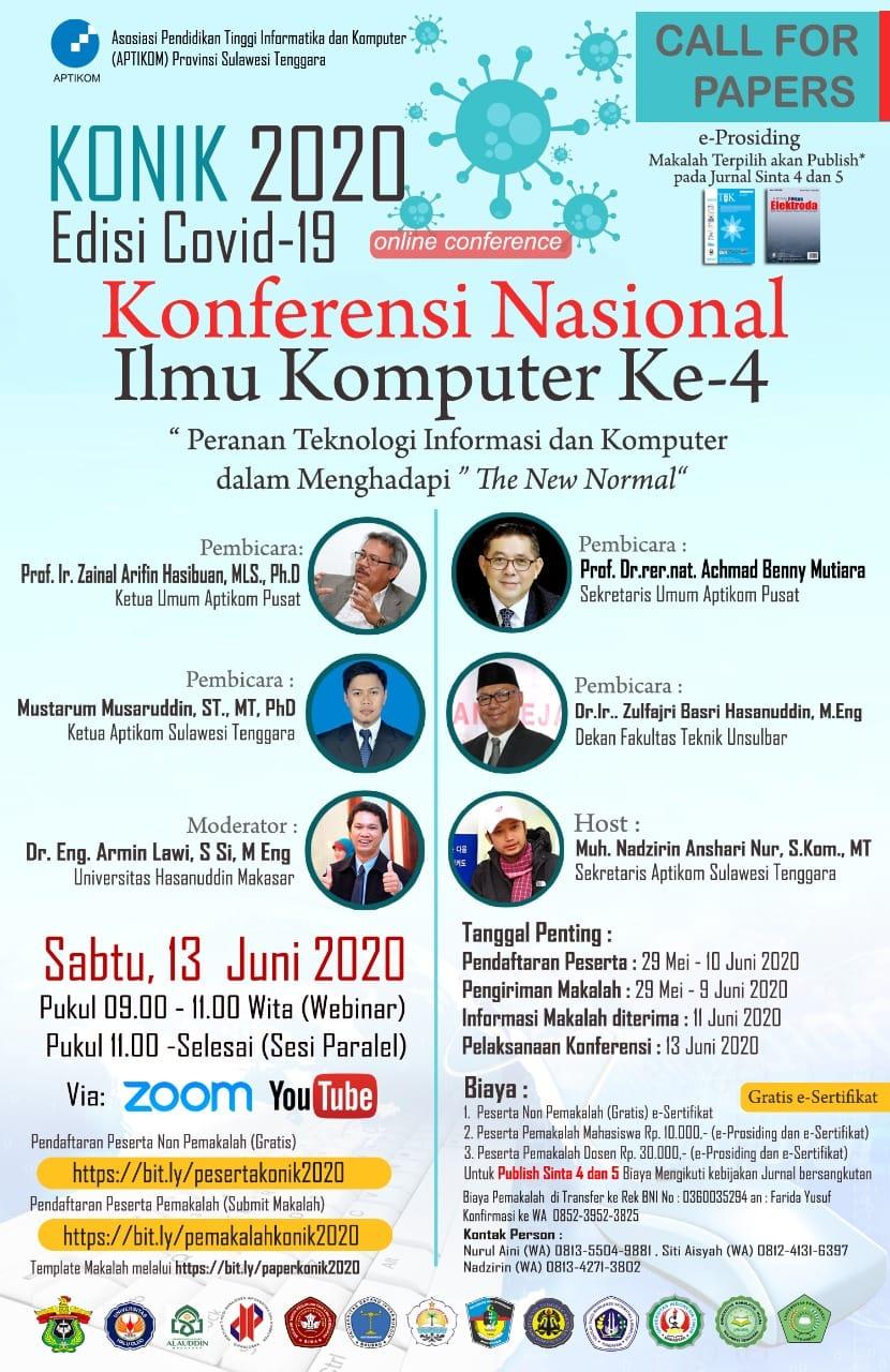 Poster Konferensi Nasional Ilmu Komputer ke-4, Sabtu (13/6). Sumber: Medsos