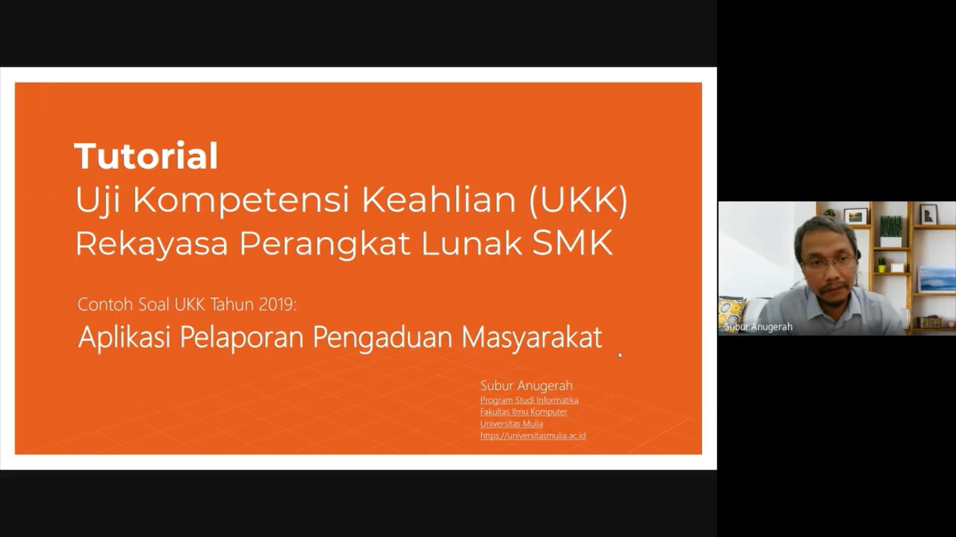 Video Tutorial UKK RPL SMK: Aplikasi Pelaporan Pengaduan Masyarakat